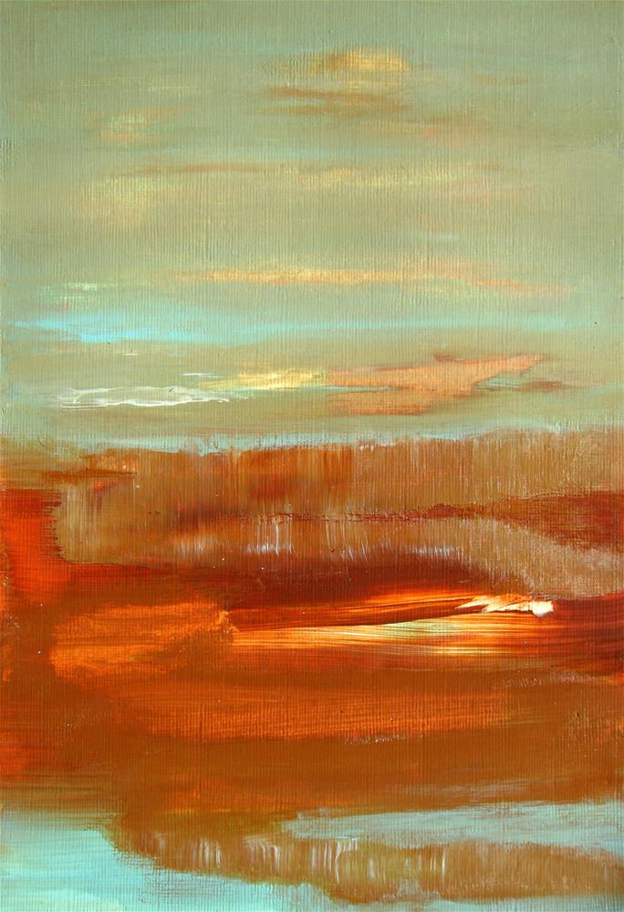"""Marsh Abstract"" original fine art by Alina Frent"