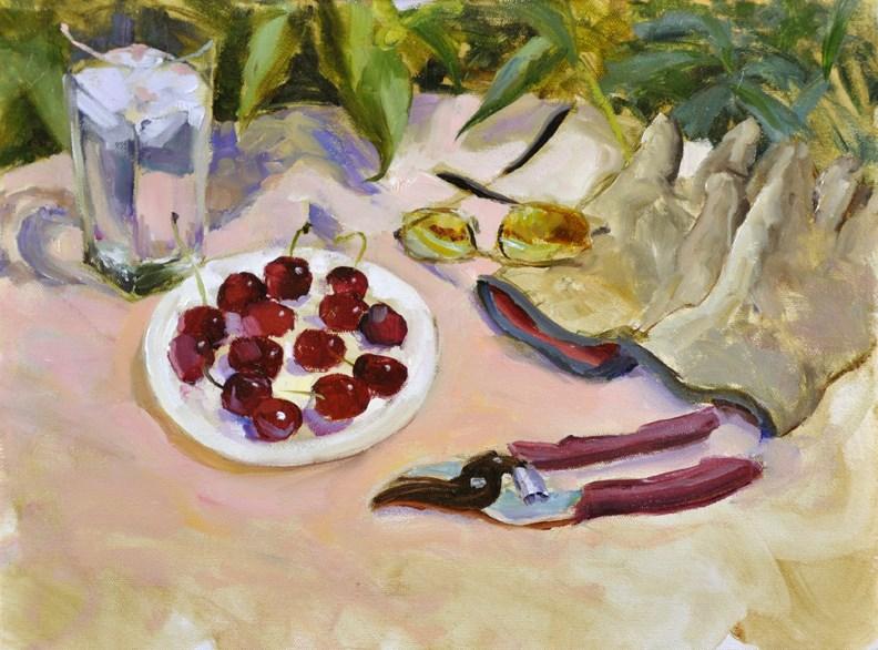 """""""Garden Still Life"""" original fine art by Scott Harding"""