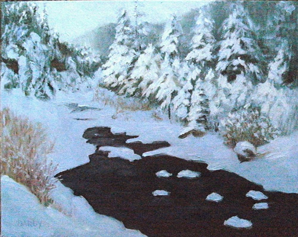 """New Snow"" original fine art by Lynn Darby"