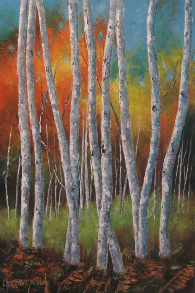 """30 x 20 inch oil The Dance"" original fine art by Linda Yurgensen"