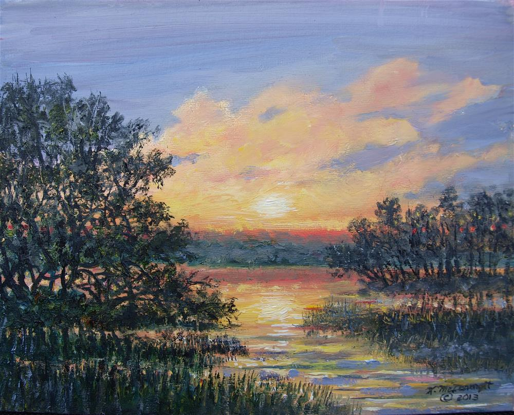 """EVENING MARSH LIGHT"" original fine art by Kathleen McDermott"