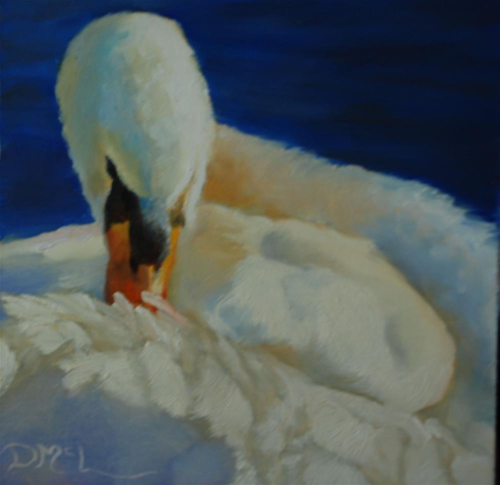 """Preening Swan"" original fine art by Dorothy McLennan"