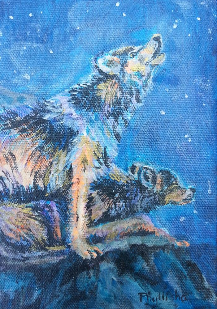 """Starry  Night"" original fine art by Phyllisha Hamrick"