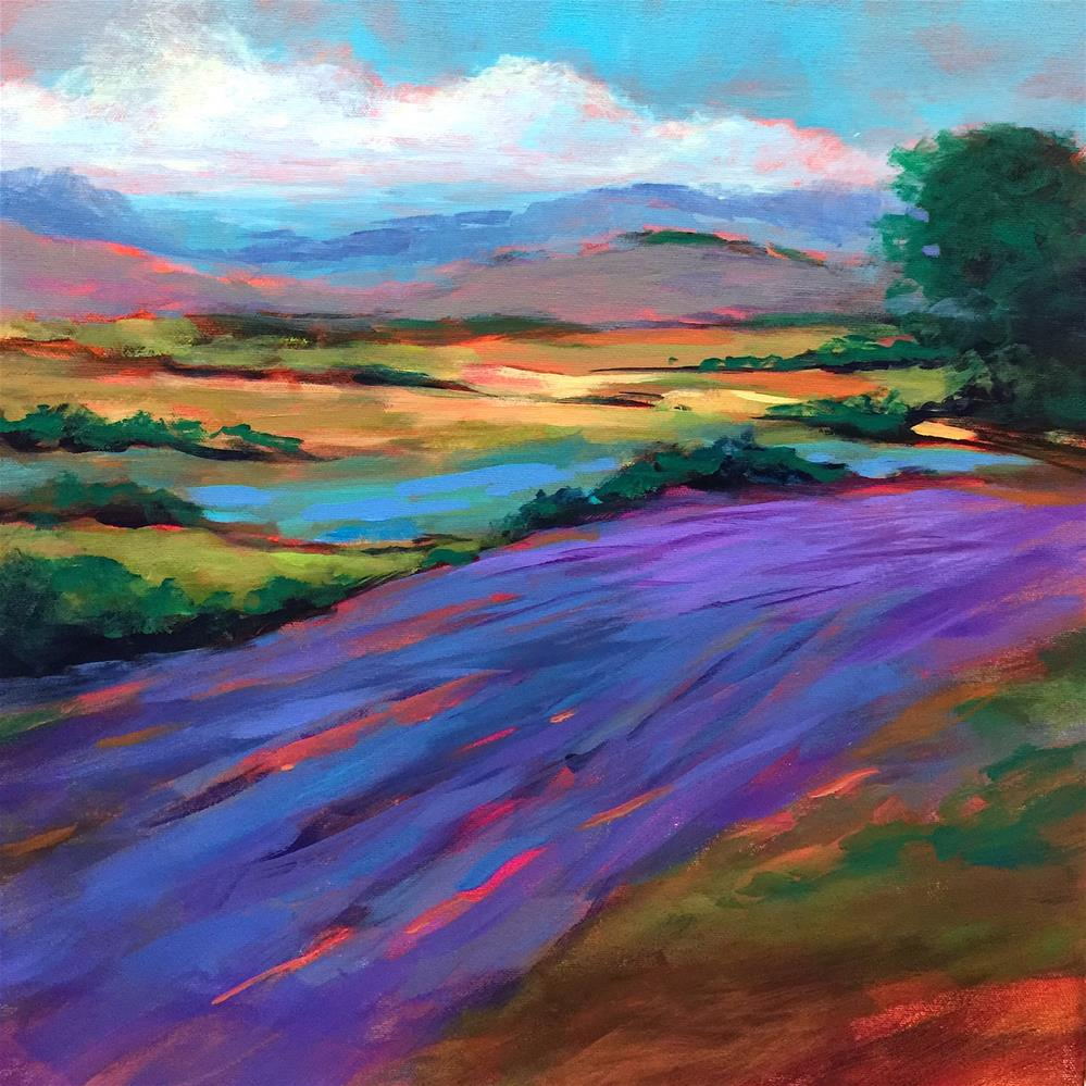 """An Italian Getaway and Azure Fields - Nancy Medina Art"" original fine art by Nancy Medina"