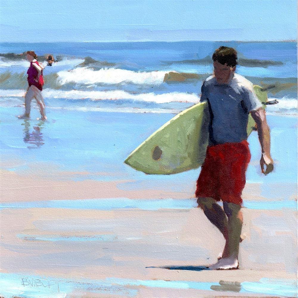 """""""Daily Diaper #278 Surf's In"""" original fine art by Brian Burt"""