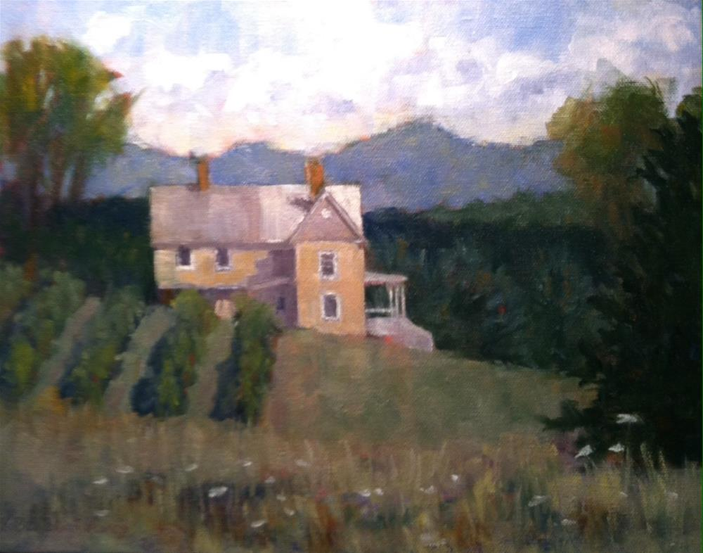 """""""View from the Vineyard"""" original fine art by Katharine March"""