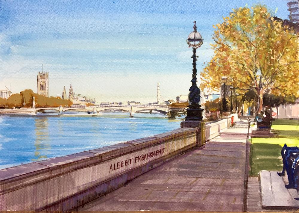 """Albert Embankment"" original fine art by Adebanji Alade"