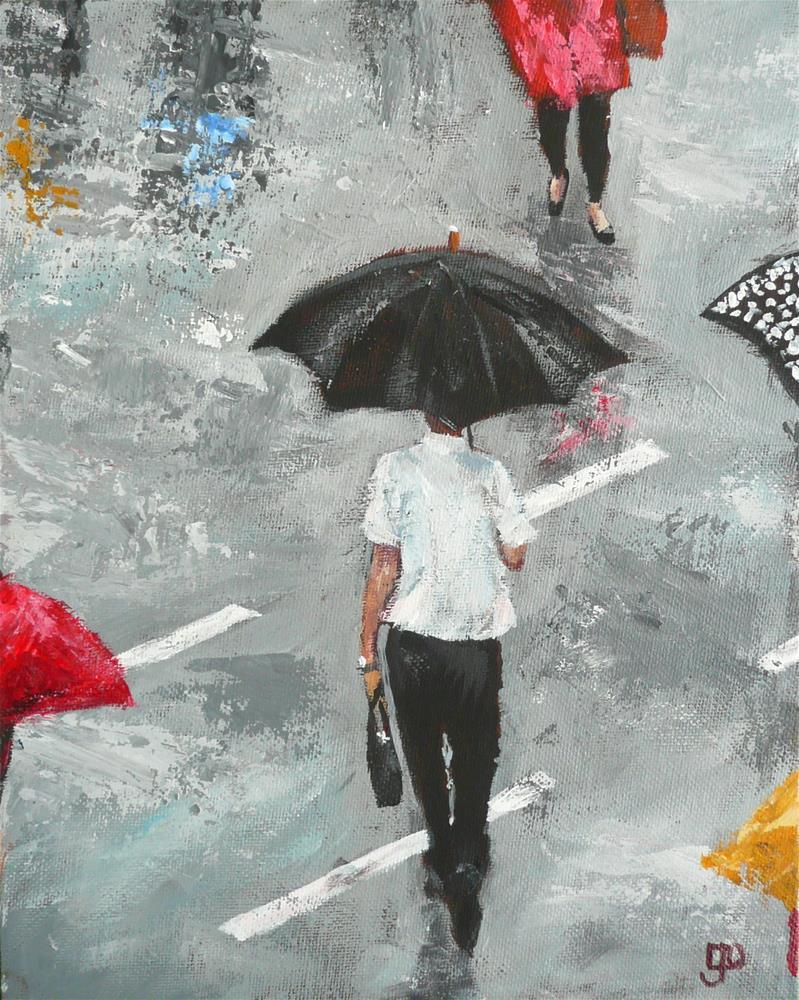 """""""Singing In The Rain"""" original fine art by Leanne Owen"""