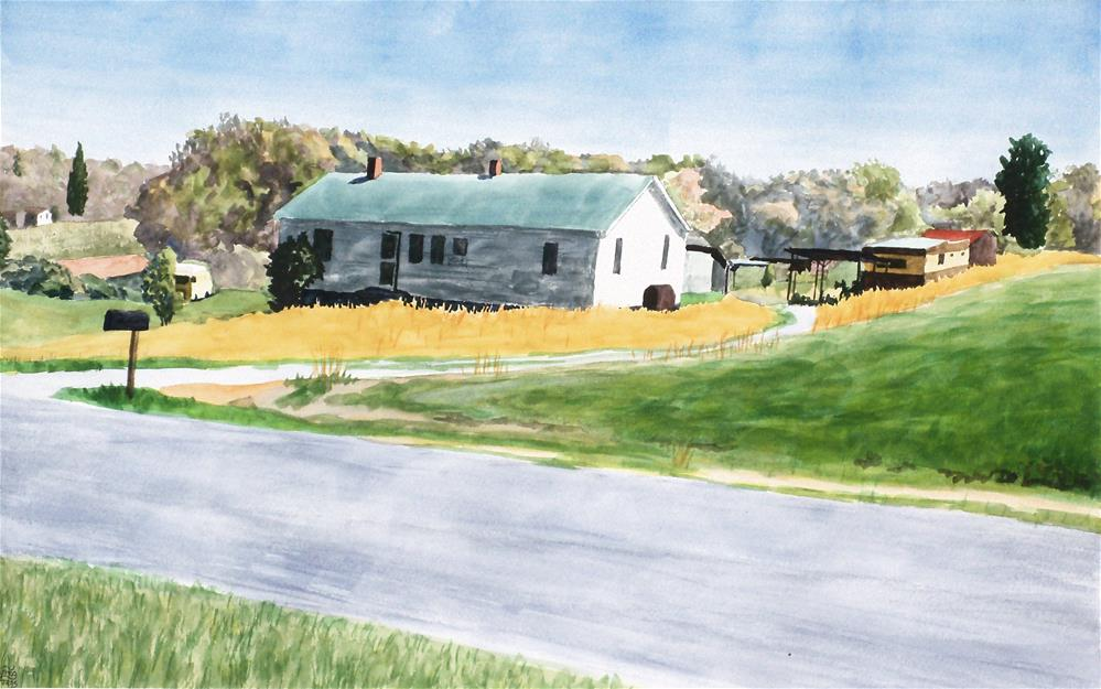"""""""The Late Ronny Hill's House"""" original fine art by Greg Arens"""