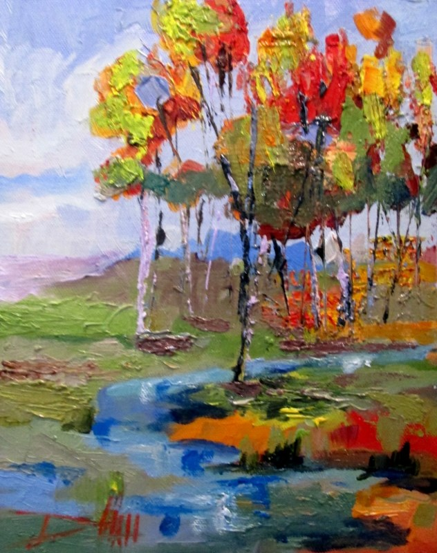"""Landscape"" original fine art by Delilah Smith"