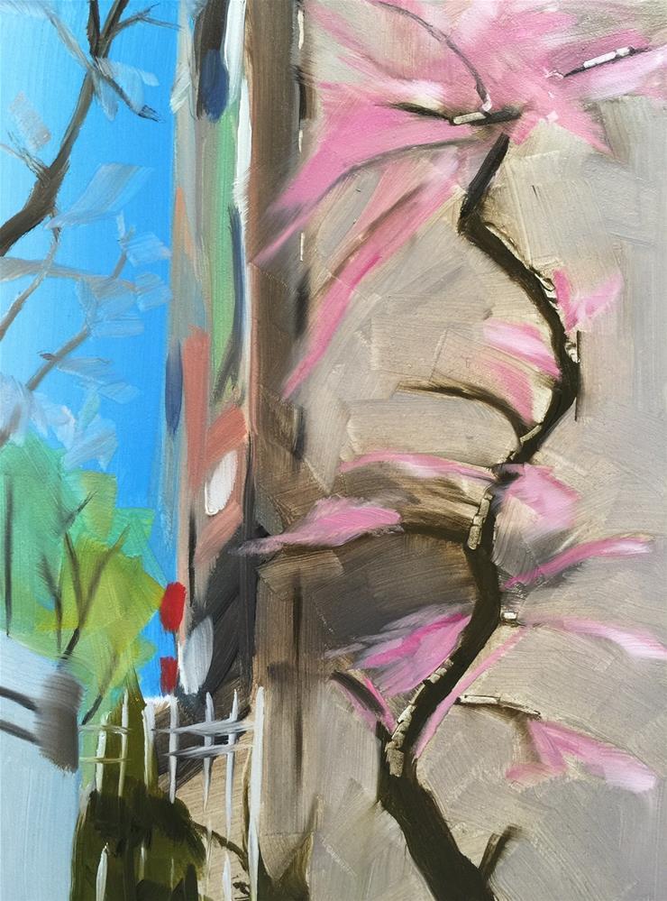 """226 New York in Bloom"" original fine art by Jenny Doh"