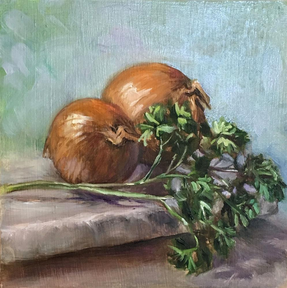 """Vegetable Challenge"" original fine art by Vana Meyers"