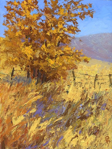 """Edge of Autumn"" original fine art by David King"