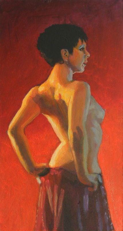 """""""Nude profile"""" original fine art by Peter Orrock"""