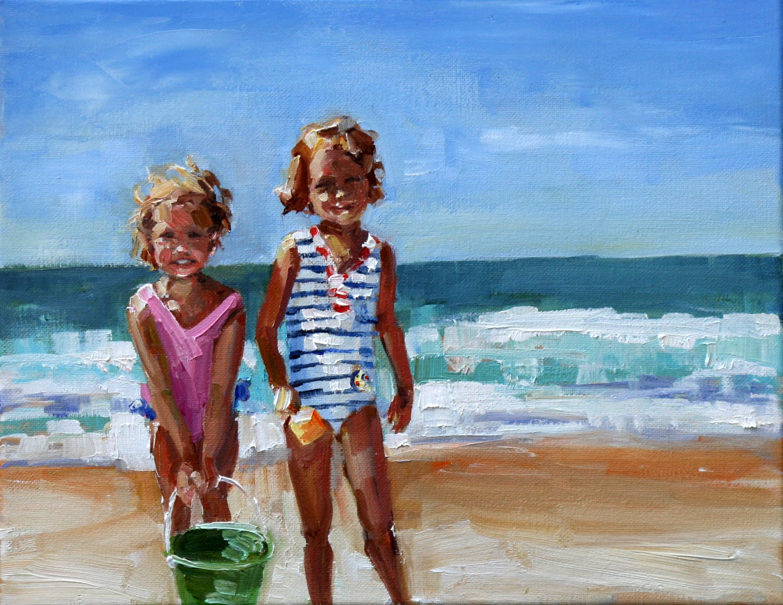 """katie and beth"" original fine art by Carol Carmichael"