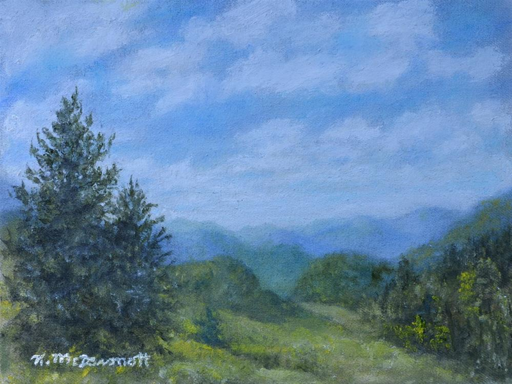 """Mountain Meadows (C) 2016 by K. McDermott"" original fine art by Kathleen McDermott"