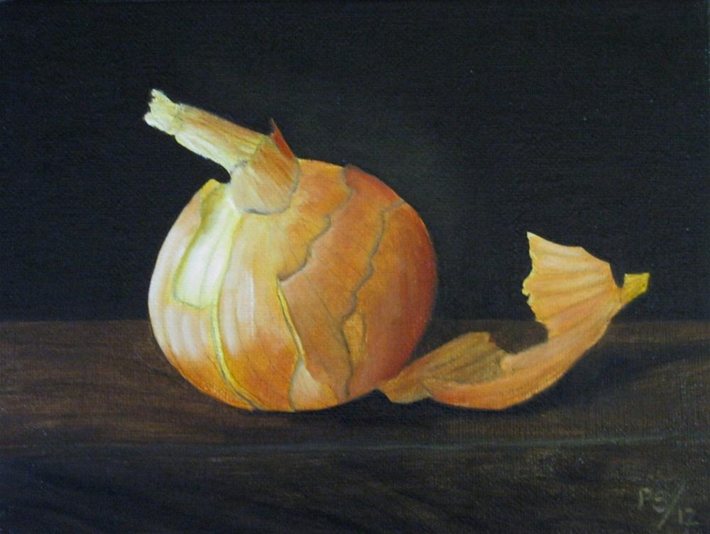 """Brown Onion I"" original fine art by Pera Schillings"