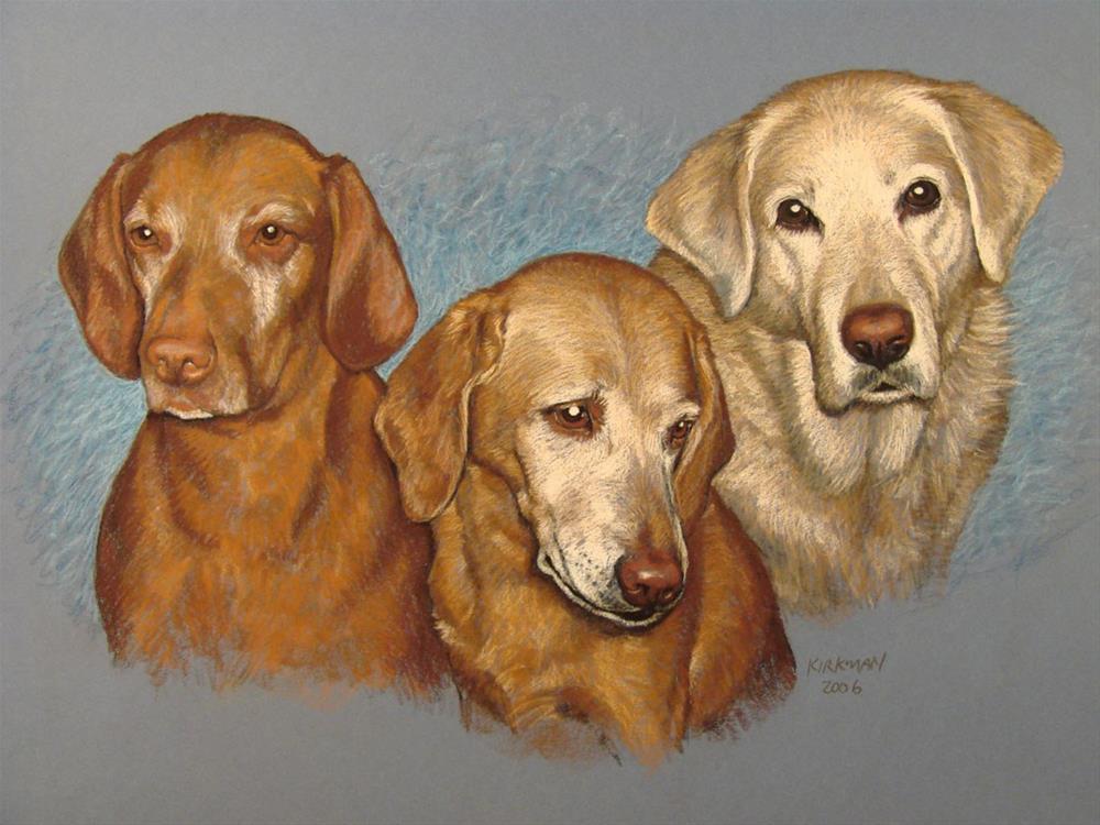 """Paul's Dogs"" original fine art by Rita Kirkman"
