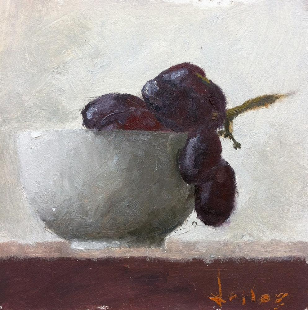 """Still Life with Grapes"" original fine art by Richard Jones"