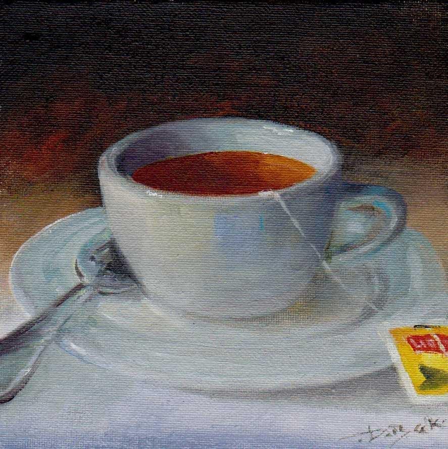 """tea"" original fine art by V. DeBak"