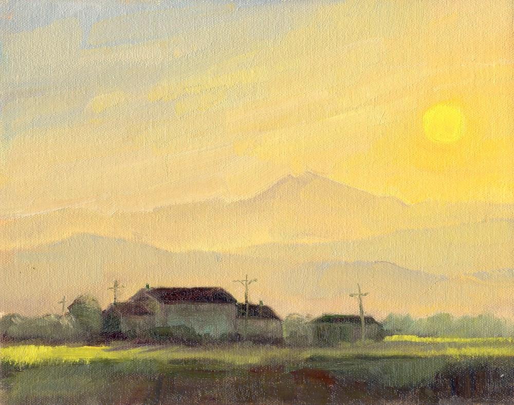 """Hazy Day Sunset"" original fine art by Kath Reilly"
