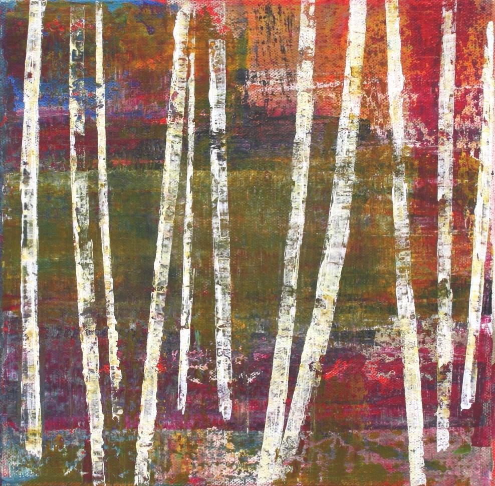 """Dream of Birch Trees"" original fine art by Sage Mountain"