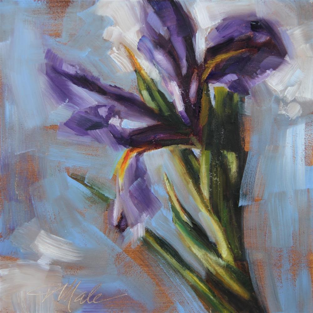 """Dancing Iris"" original fine art by Tracy Male"