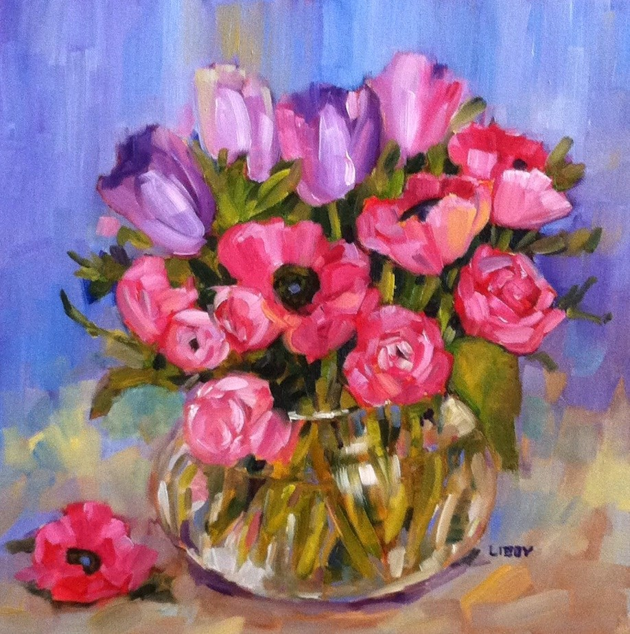 """Any Anemones?"" original fine art by Libby Anderson"