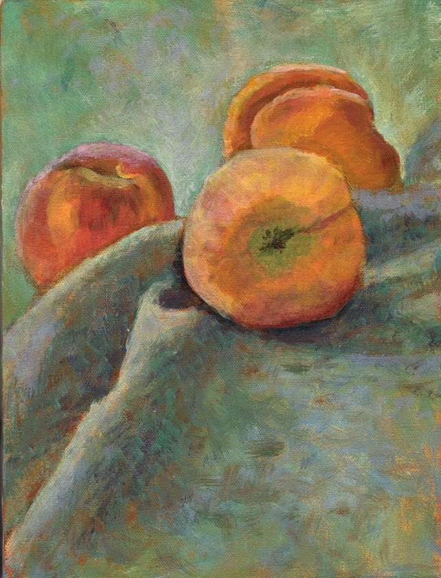 """PEACHES"" original fine art by Nancy Herman"