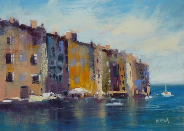 """Join Me and Paint in Croatia July 2016!"" original fine art by Karen Margulis"