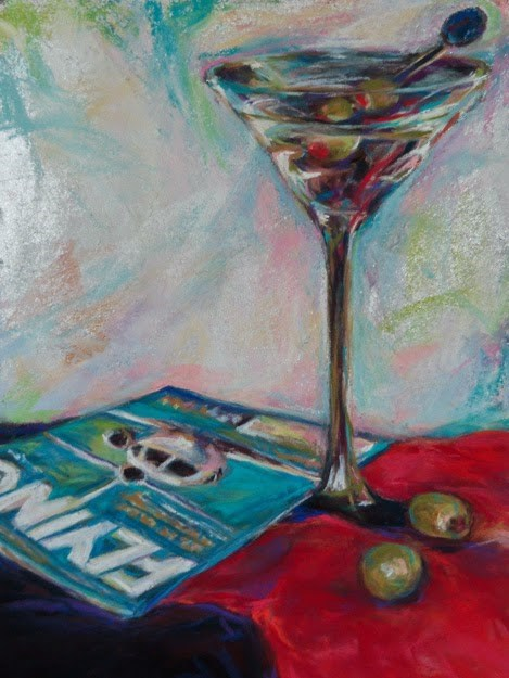 """24 HOURS- 12 x 9 still life pastel + silver leaf by Susan Roden"" original fine art by Susan Roden"