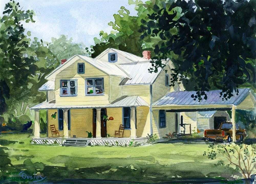 """""""House at Federal Point"""" original fine art by Chris Ousley"""