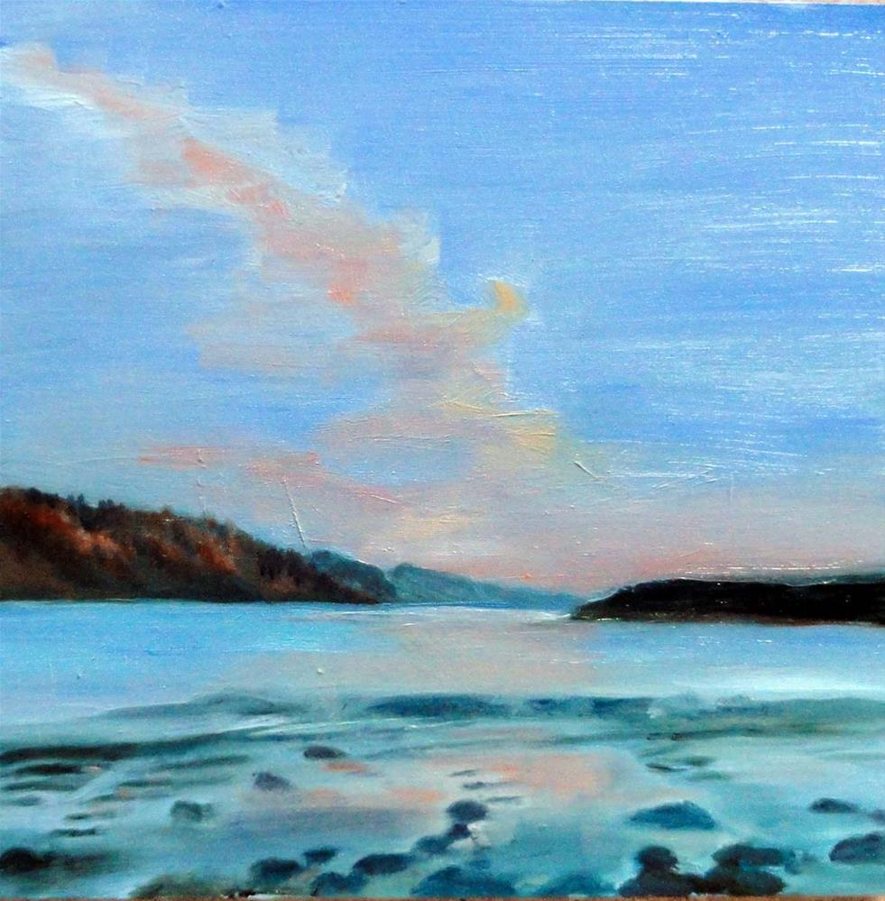 """Jetty At Low Tide"" original fine art by Cietha Wilson"