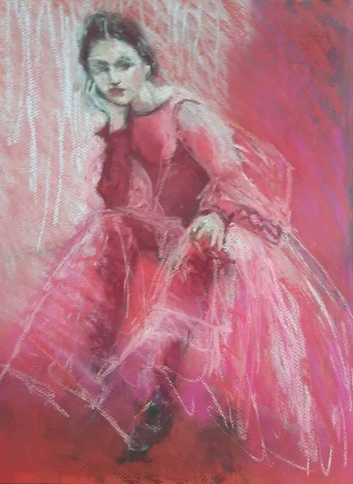 """Red riding hood"" original fine art by Rentia Coetzee"