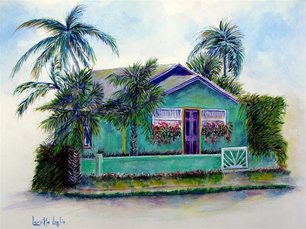 """""""Green Cottage"""" original fine art by Loretta Luglio"""