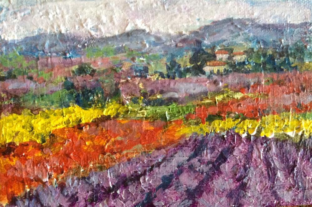 """Postcard from Provence"" original fine art by Sonia von Walter"
