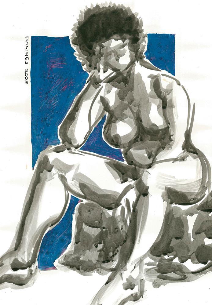 """""""213 ORIGINAL LIFE SKETCH 2"""" original fine art by Trevor Downes"""
