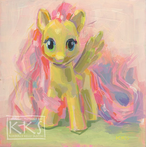 """Flutterby"" original fine art by Kimberly Santini"