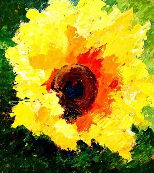 """""""Sunflower #17"""" original fine art by Anna Vreman"""