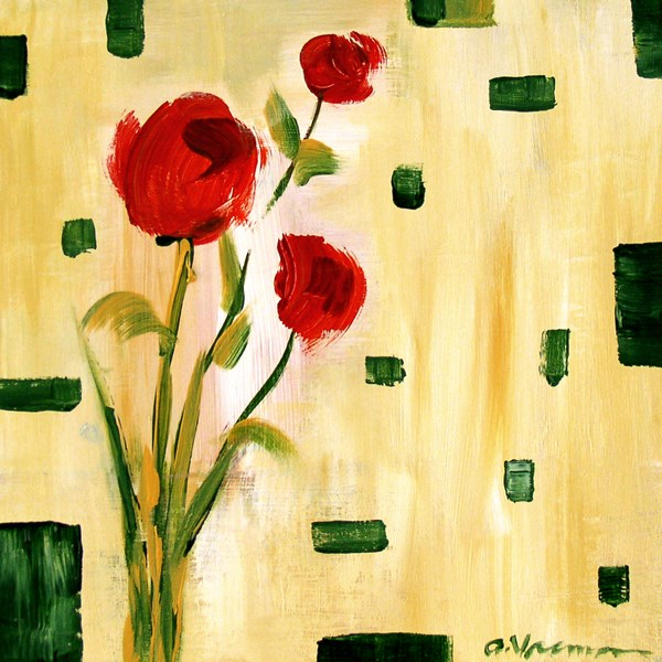 """""""Roses Are Red"""" original fine art by Anna Vreman"""