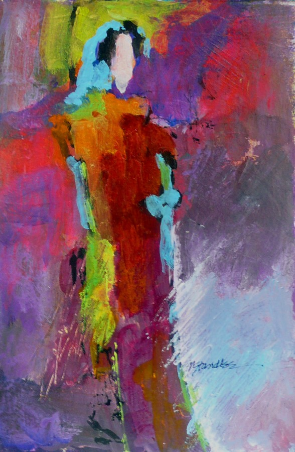"""""""Hotsy Totsy 3 in a series of 3, 11014C"""" original fine art by Nancy Standlee"""