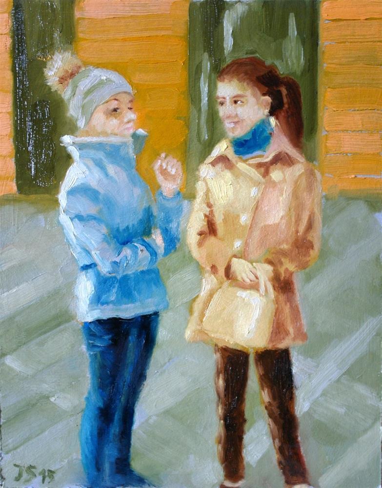 """""""gossip girls"""" original fine art by Yuriy Semyonov"""