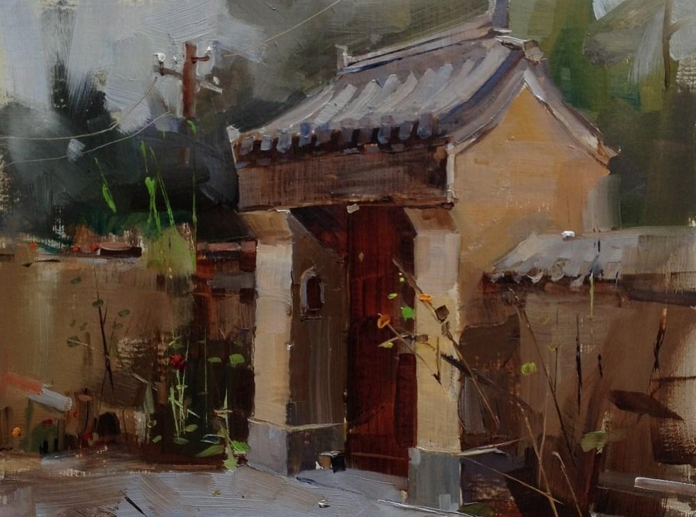 """""""Beijing Hutong 2014 - 8"""" original fine art by Qiang Huang"""