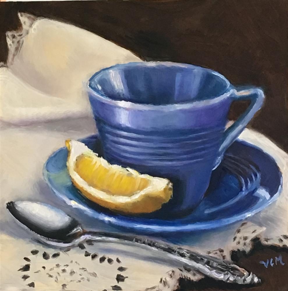 """Lace & Tea Memories"" original fine art by Vana Meyers"