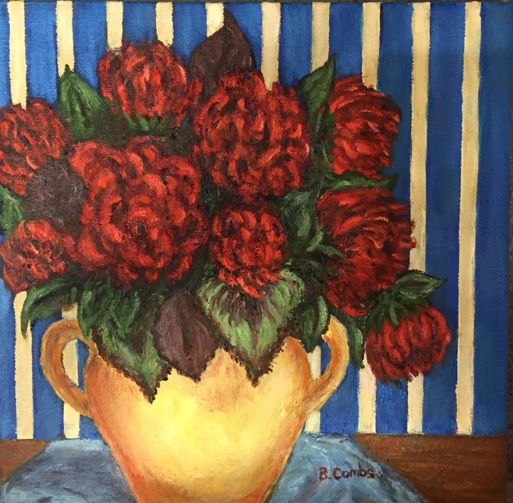 """Red Flowers"" original fine art by Bebe Combs"