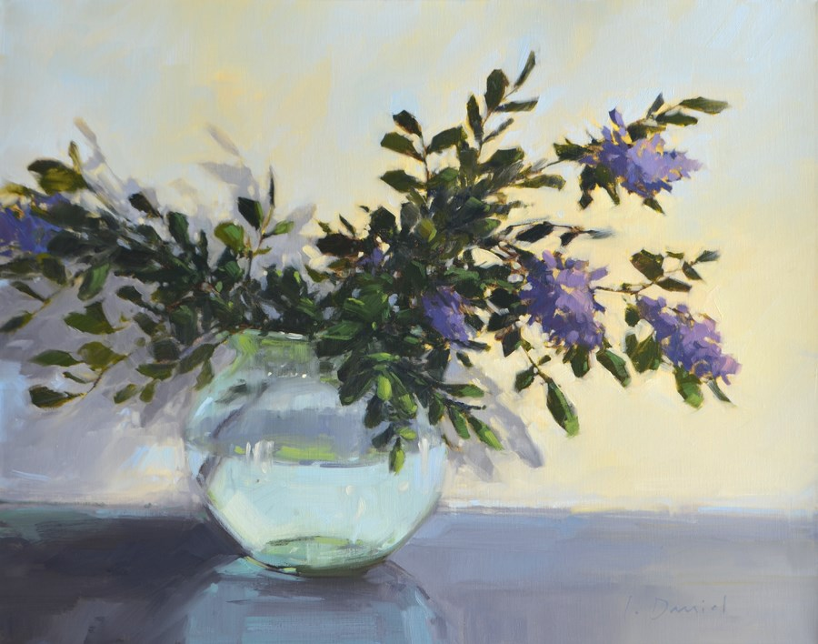 """Spring Laurel Branches - Show Tip #17"" original fine art by Laurel Daniel"