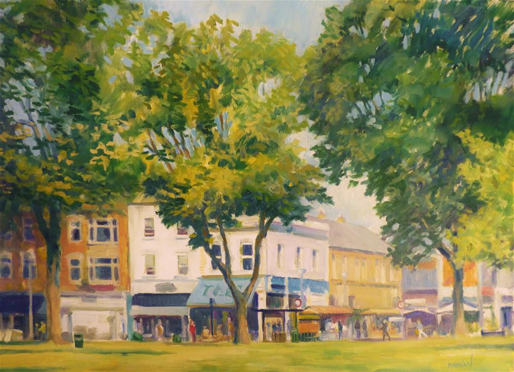 """Chiswick High Street, London"" original fine art by Damian Gerard Bland"