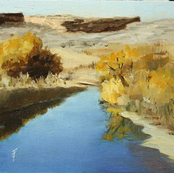 """Salt Wash, Arches National Park"" original fine art by Jane Frederick"