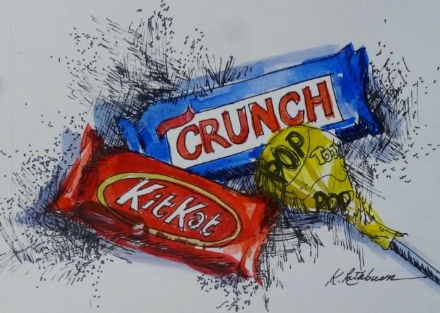 """Primary Candy"" original fine art by Kathy Los-Rathburn"