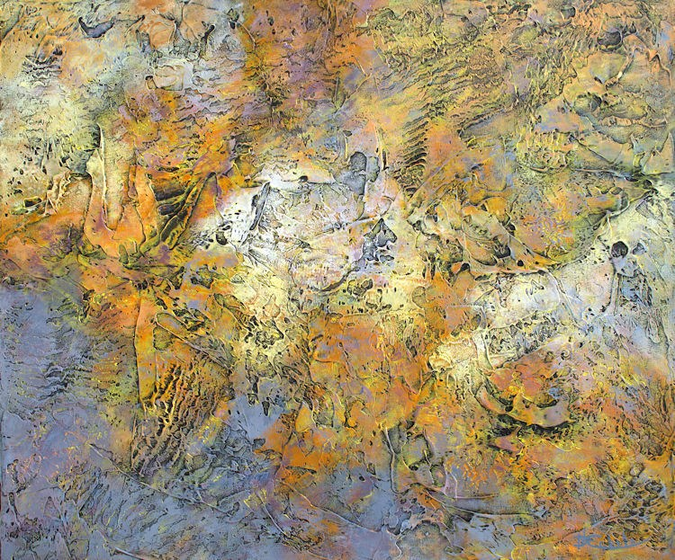 """Autumn Texture"" original fine art by Nancy Eckels"